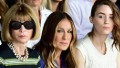 NEW YORK, NY - SEPTEMBER 11: Artistic director for Conde Nast Anna Wintour and actresses Sarah Jessica Parker and Rooney Mara attend the Calvin Klein Collection fashion show during Mercedes-Benz Fashion Week Spring 2015 at Spring Studios on September 11, 2014 in New York City. (Photo by Andrew H. Walker/Getty Images for Mercedes-Benz Fashion Week)