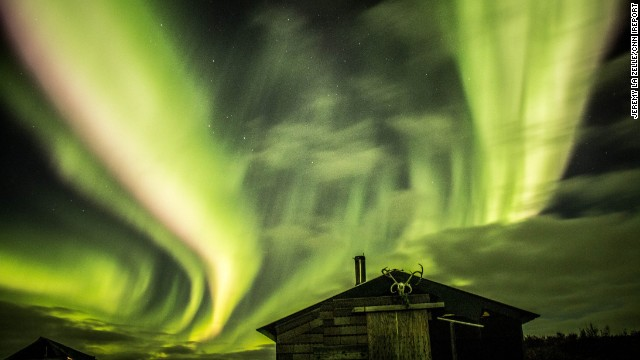The Northern Lights, or aurora borealis, put on a fantastic display near Alaska's Bering Strait. Jeremy La Zelle, who traveled Alaska for two months in 2012, used an eight-second exposure to capture this stunning image.