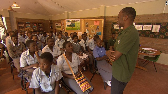 To further the cause, Lilongwe hosts thousands of school children each year. Last year alone, they received over 30,000 school groups. They teach the children respect for wildlife, and try and drive home the point that some animals -- like primates -- aren't meant to be pets.