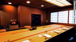 Sawada\'s interior is as elegant as its sushi.
