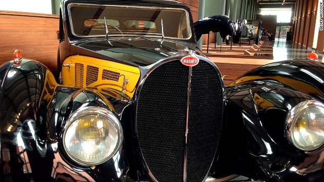 French textile baron Fritz Schumpf was obsessed with Bugattis. His collection, now open to the public, includes this 1936 Bugatti 57S.
