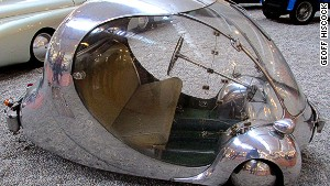 Odd egg: An unusual bubble car.