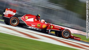 Scuderia Ferrari's Finnish driver Kimi Raikkonen steers his car during the second practice session ahead of the Italian Formula One Grand Prix at the Autodromo Nazionale circuit on September 5, 2014 in Monza. AFP PHOTO / OLIVIER MORIN (Photo credit should read OLIVIER MORIN/AFP/Getty Images)