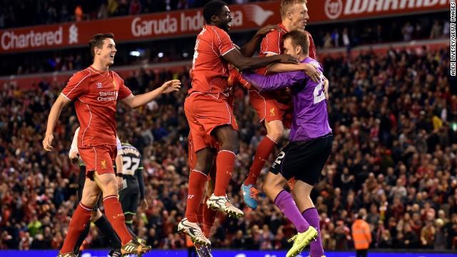 Cue huge Liverpool celebrations.