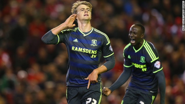 Middlesbrough substitute Patrick Bamford scored to make it 2-2 and the shootout drama ensued...