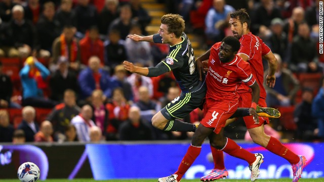 In the dying moments of extratime Liverpool defender Kolo Toure conceded a penalty.