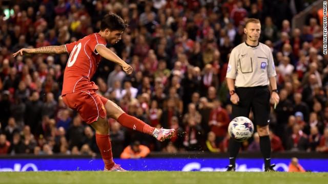 Spaniard Suso then restored Liverpool's lead.