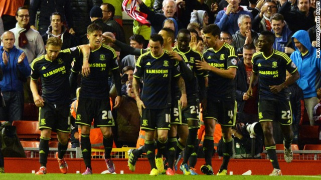 English second tier side Middlesbrough equalised in the second half to send the game into extratime.