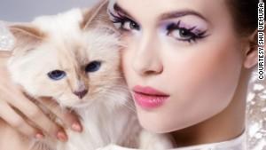 Karl Lagerfeld's pet cat -- the supermodel