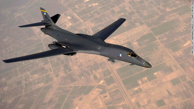 The Air Force's B-1B Lancer bomber was introduced in the 1980s to carry out nuclear missions. The plane was adapted for conventional weapons missions in the 1990s and has flown in combat over Iraq, Kosovo and Afghanistan. Here a B-1B flies above Iraq in support of Operation New Dawn in February 2011.