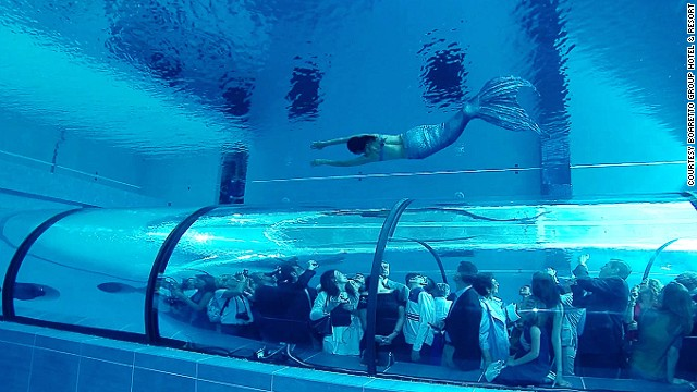 Dare To Dive Into The World S Deepest Pool Cnn Com