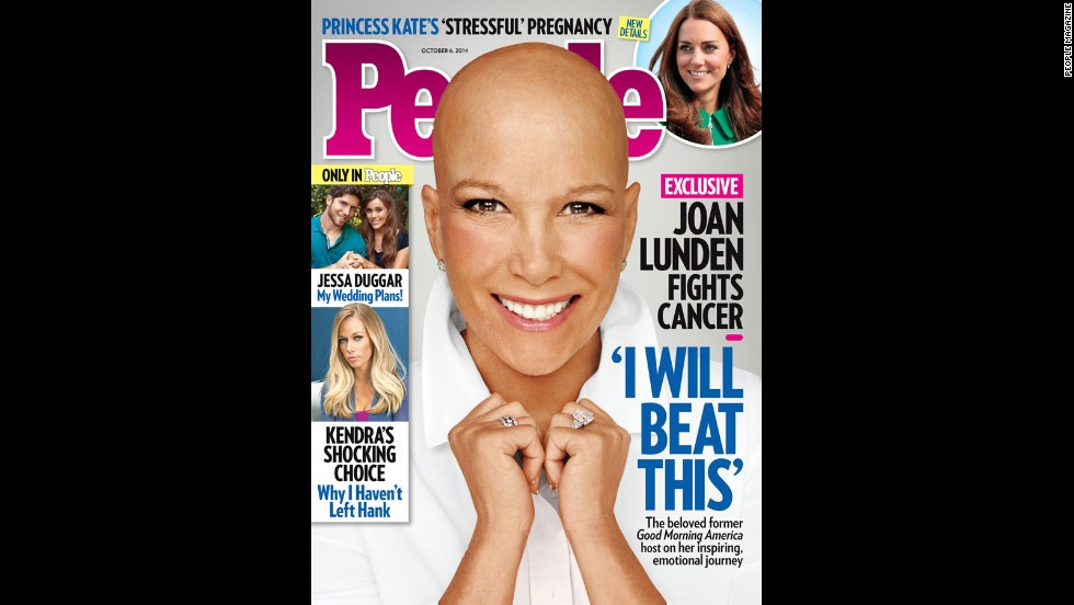 """When former """"Good Morning America"""" host Joan Lunden learned she was facing an """"aggressive"""" form of breast cancer, she was determined to face her health battle head on. Knowing she would need chemotherapy, Lunden decided to remove her familiar blond hair before her locks could be affected by the treatment. """"You know it's going to happen one of these days and you are wondering how or when,"""" <a href='http://www.people.com/article/joan-lunden-bald-reveal-breast-cancer' target='_blank'>Lunden explained to People magazine</a>, which she posed for without her wig in September. """"So I just owned it."""""""