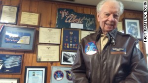 Powell, 93, was among more than 1,000 fighter pilots attacking German forces in the 1944 D-Day invasion.