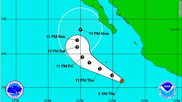 La tormenta tropical 'Rachel' se forma en el Océano Pacífico