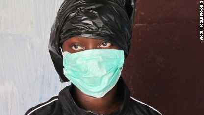 Fatu has cared for four of her family members with Ebola, keeping three alive without infecting herself. Her trash bag method is being taught to others in West Africa who can't get personal protective equipment.