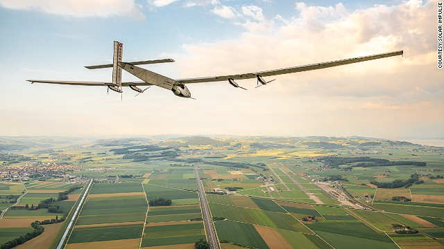 Solar Impulse 2 aims to be the first solar plane in history to fly around the world. It was recently announced Abu Dhabi will be the host city for the flight. The plane made its first test flight in June, and when it takes off on its round-the-world trip, will make Abu Dhabi both the first and last stop.