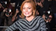 Lindsay Lohan is in the spotlight again, this time in London.