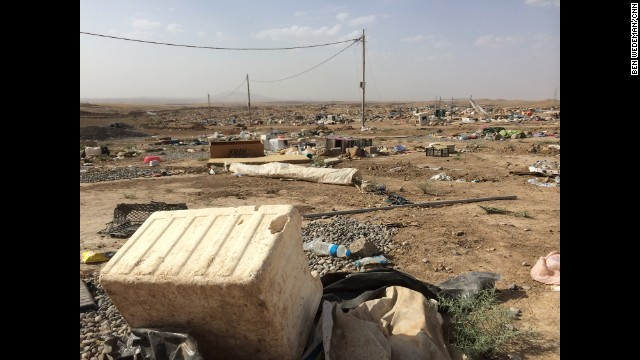 "IRAQ: ""An abandoned refugee camp between Mosul and Irbil. It filled up in June after ISIS took over Mosul, but when ISIS started pushing toward Irbil thousands fled in panic, leaving behind clothing, food, odds and ends, even cars. No one has returned."" - CNN's Ben Wedeman. Follow Ben (@bcwedeman) and other CNNers along on Instagram at instagram.com/cnn."