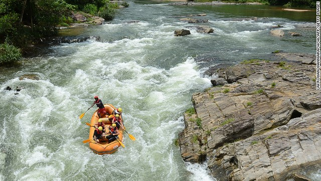 What would you rather do: watch people rafting down the Kelani River in Sri Lanka or go do it yourself?