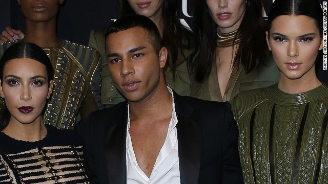 Balmain creative director Olivier Rousteing has been credited with infusing the venerable Paris house with a fresh, pop culture aesthetic, while staying true to the brand's spirit and tradition of craftsmanship. One of his most loyal supporters is U.S. TV personality Kim Kardashian, pictured here with Rousteing and her sister, model Kendall at this year's Vogue Paris Foundation party.