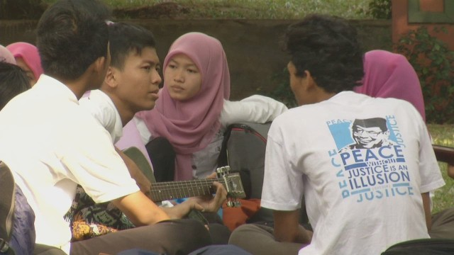 Afbeelding bij Indonesian youth reject ISIS recruits