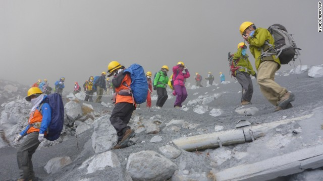 Local authorities say there were roughly 250 hikers in the area at the time of the eruption.