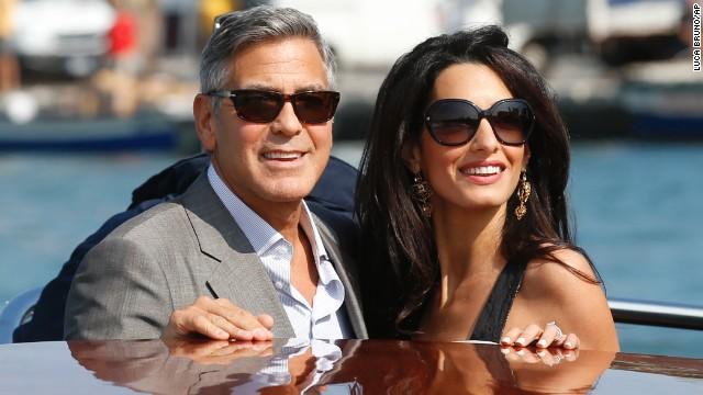 George Clooney se casa con  Amal Alamuddin en Venecia