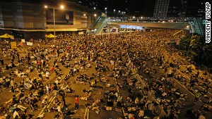 Protesters brought Hong Kong\'s financial district to a halt.