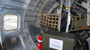 Cabins inside World War II-era B-17 bombers were spartan with few comforts.