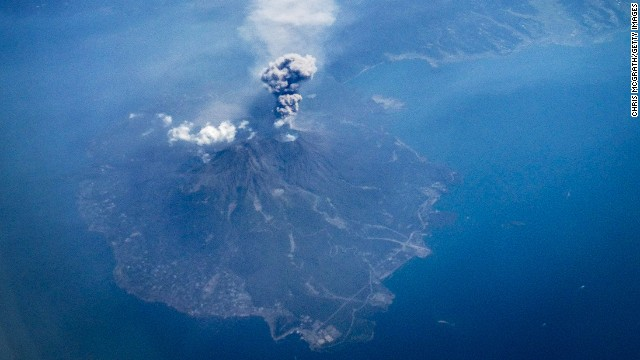 Japan's Mount Sakurajima erupts Monday, September 29. It was the second volcano in two days to erupt in Japan.