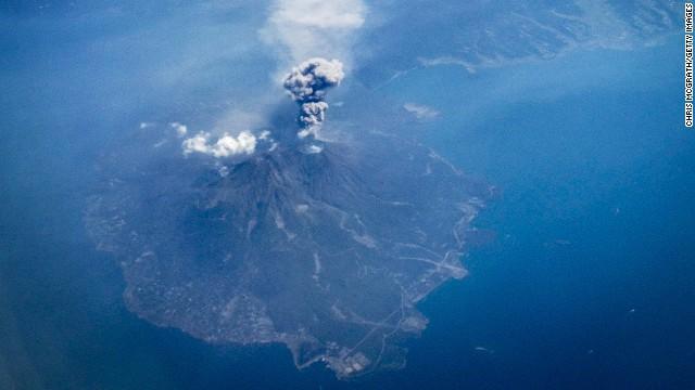 Japan's Mount Sakurajima erupts on September 29. It was the second volcano in two days to erupt in Japan.