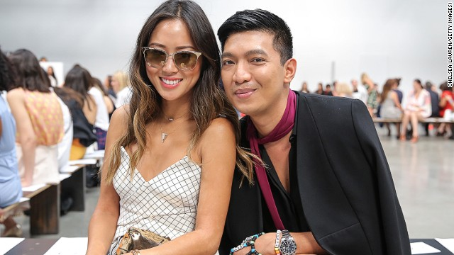 Aimee Song and Bryanboy, seen here at the Yigal Azrouel fashion show in New York, are some of the highest earners in the blogosphere. Women's Wear Daily reported that the Philippine-born BryanBoy was paid $40,000 to attend the ribbon cutting at the Siam Center in Bangkok last year.