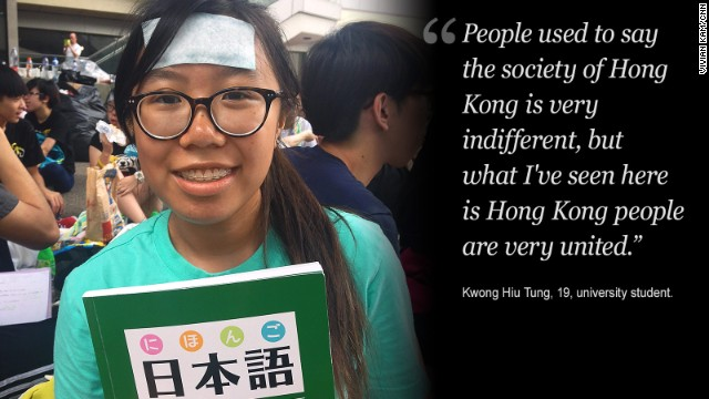 Protesters are standing their ground in the heart of Hong Kong.