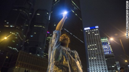 Hong Kong protesters: We're not going