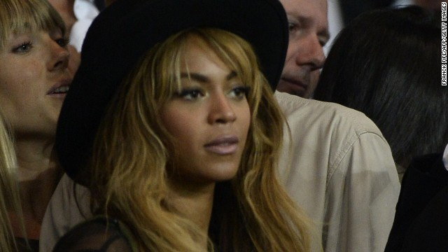 Beyonce has been rumored to be a Liverpool fan but she was in Paris on Tuesday night to take in a Champions League match in the French capital.