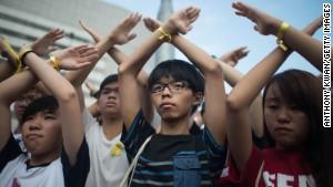 Hong Kong protesters not backing down