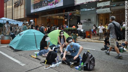 Hong Kong protests draw crowds on China's National Day