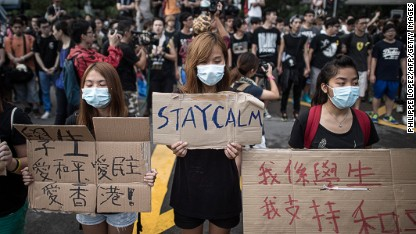 How might China respond to protests?