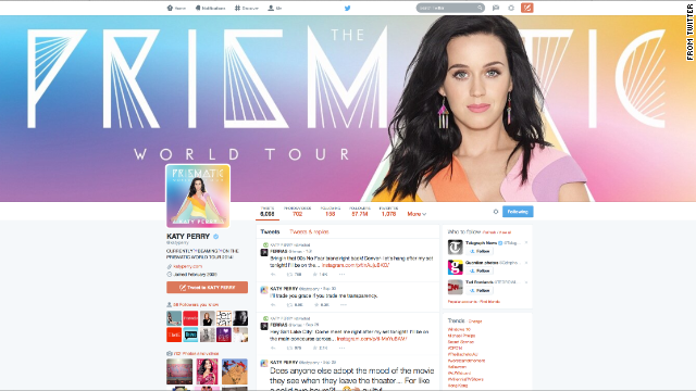 On Twitter, which has over 270 million monthly active users, celebrities like Katy Perry have a huge fan base.