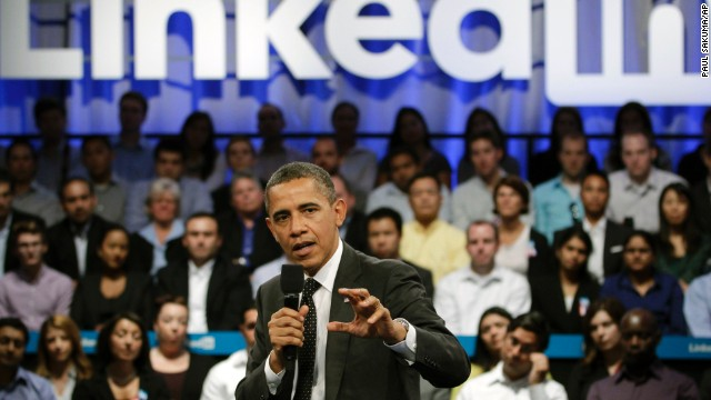 LinkedIn is a site where people can connect professionally and build business networks. President Barack Obama spoke about work and jobs at a LinkedIn town hall meeting at the Computer History Museum in Mountain View, California, on September 26, 2011.