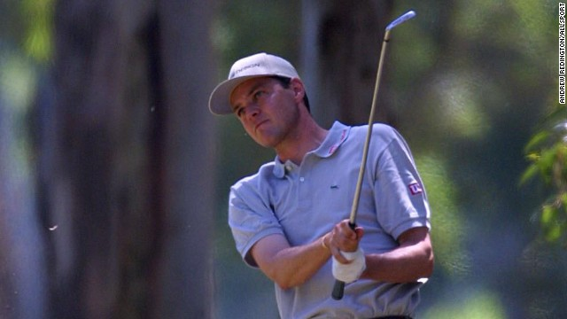Paolo Quirici, seen here playing on the European Tour in 2001, will be attempting to defend his World Hickory Open title this week at Panmure in Scotland.