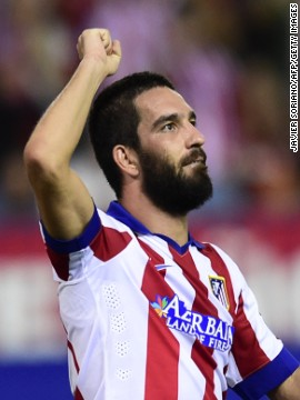 Arda Turan notched a late winner for Spanish champions Atletico Madrid over Juventus. Turan's goal was the first goal the Italian champions had conceded all season.