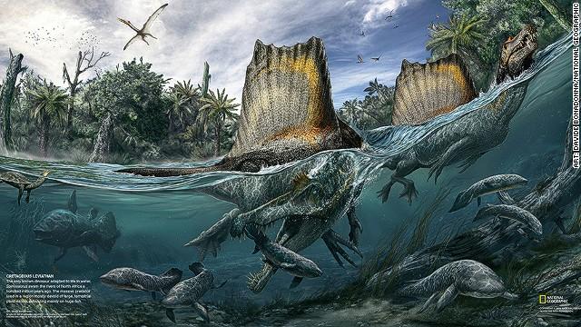El dinosaurio que comía tiburones para el desayuno