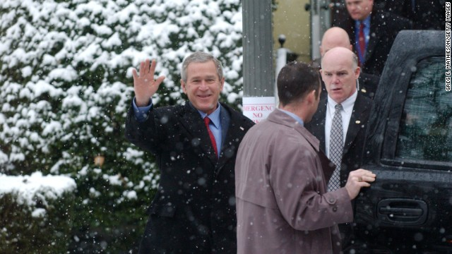 Joseph Clancy was often seen protecting both Obama and former president George W. Bush. Here he follows Bush at St. John's Episcopal Church on January 30, 2005 in Washington, DC.