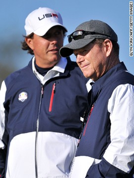 "Tom Watson was seen as the man to finally procure a Ryder Cup victory for the United States over Europe in golf's team competition but after a third straight defeat, Phil Mickelson was happy to roll out some thinly veiled criticism of his captain, eulogizing about the last man to lead America to victory, Paul Azinger. Watson replied tersely: ""(Phil) has a difference of opinion. That's OK. My management philosophy is different than his."""
