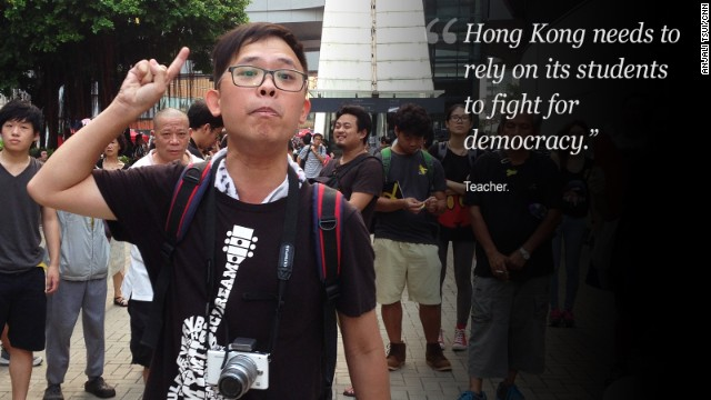 Hong Kong's leader C.Y. Leung has said he will not step down.