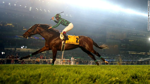 This year, three horses will challenge in the famous mile-and-a-half race in Paris -- Gold Ship, Harp Star and the highly-rated Just A Way (pictured). The five-year-old will be fancied by many after storming to victory in Dubai Duty Free last March, but some question his ability to last the distance.