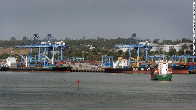 Port Mombasa in Kenya had a capacity of 894,000 TEU in 2013, making it the eighth busiest in Africa.