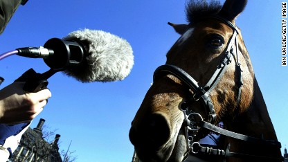 Creating the sound of showjumping