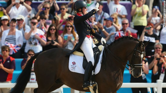"Beyond the crowd and the commentator, dressage also offers the sound of music. Charlotte Dujardin won gold for Great Britain at London 2012 using a theme which incorporated ""Land of Hope and Glory."""